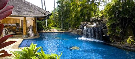 Paul Mitchell Vacation Villa Pool Oahu Hawaii