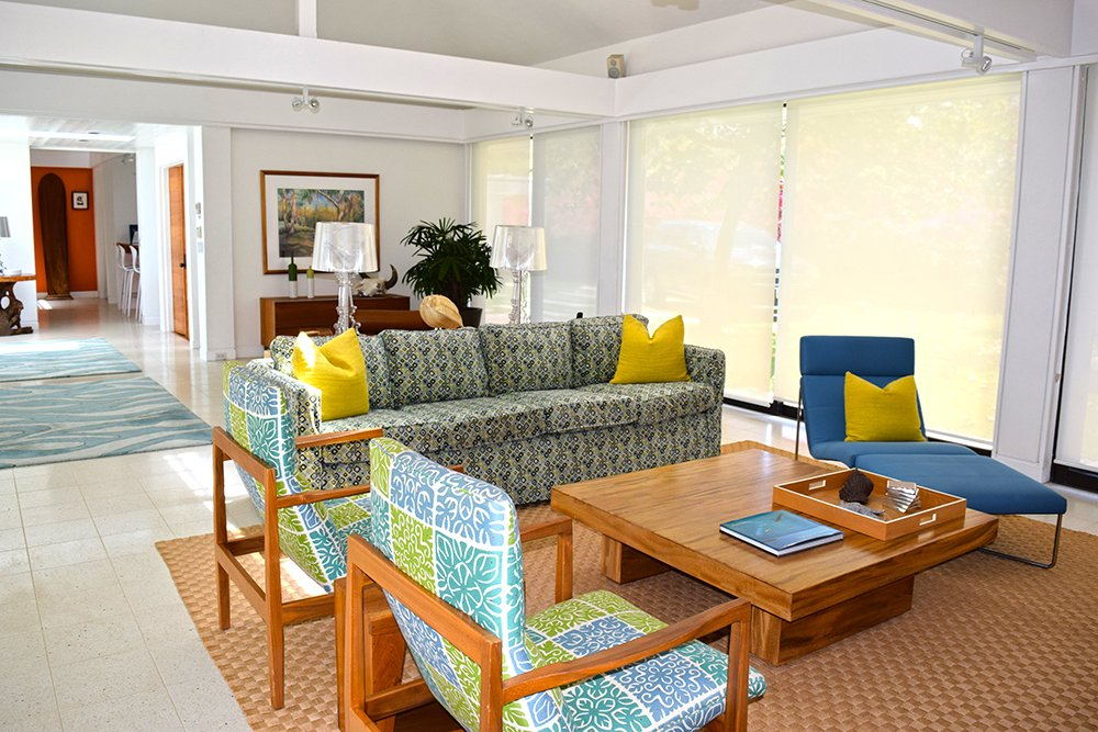 Mauna Kea Mid Century Villa Vacation Home Living Room
