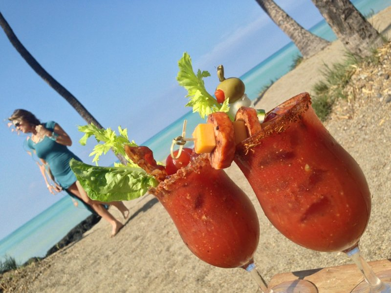 Lava Lava Beach Club, Bloody Mary on Beach, Exotic Estates, Vacation Rentals