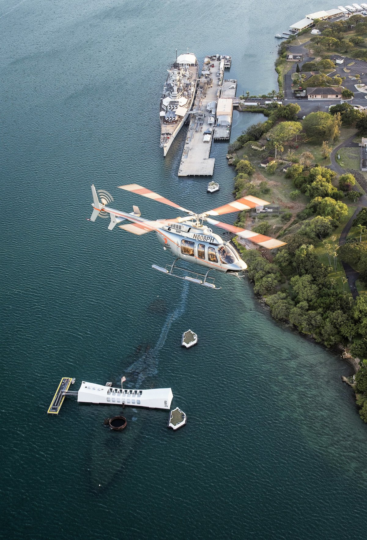 Pearl Harbor Aerial View, Paradise Helicopter Tours, Private Helicopter Tour Hawaii, Maui Helicopter Ride, Exotic Estates, Vacation Rentals