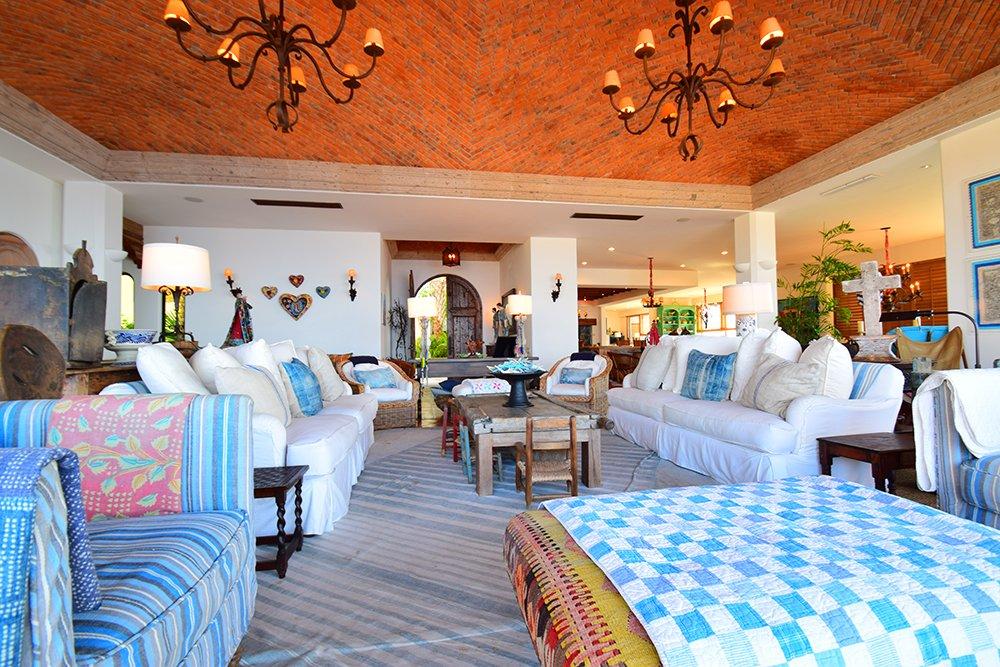 Exotic Estates Cabo Turquoise Villa Living Room - JDR