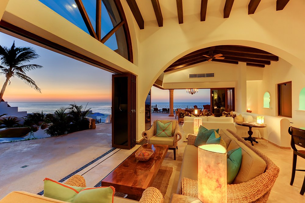 Exotic Estates Los Cabos White House Living Room, Cabo, Exotic Estates, Vacation Rentals
