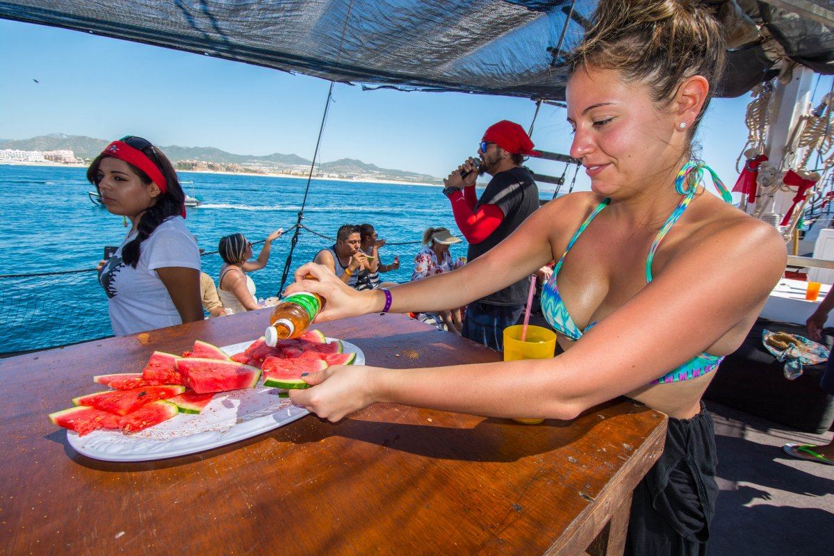 Fresh Watermelon, Cabo San Lucas Boat Tour, Buccaneer Queen, Exotic Estates, Vacation Rentals
