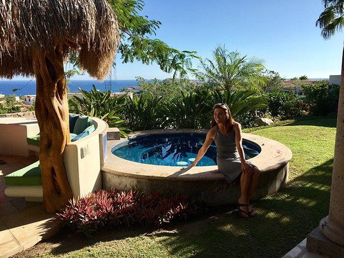 Cabo Villa del los Faros Jacuzzi Area, Cabo Villas, Cabo Villa Inspections, Exotic Estates, Vacation Rentals