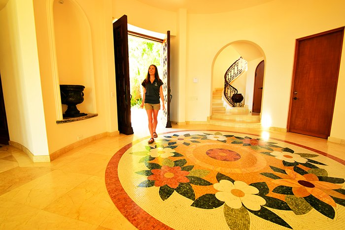 Cabo Villa Marcella Entrance, Cabo Villas, Cabo Villa Inspections, Exotic Estates, Vacation Rentals