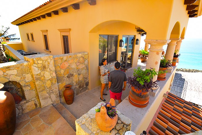 Seaside la Casita Entrance, Cabo Villas, Cabo Villa Inspections, Exotic Estates, Vacation Rentals
