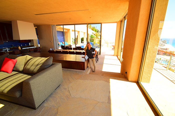 Villa Cabo Bellissima Shanon Living Room, Cabo Villas, Cabo Villa Inspections, Exotic Estates, Vacation Rentals