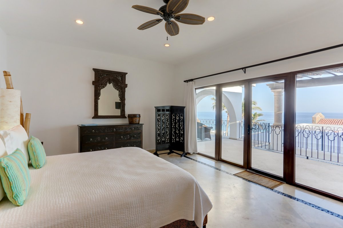 Luxury Cabo Villa, Exotic Estates Los Cabos White House, bedroom with ocean view