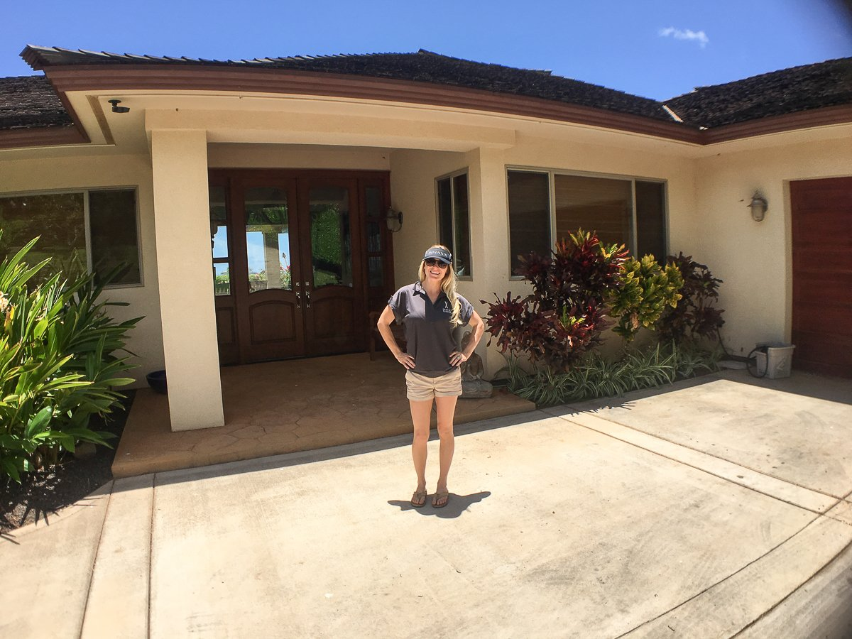 Exotic Estates Vacation Rental Maui Inspection Shanon