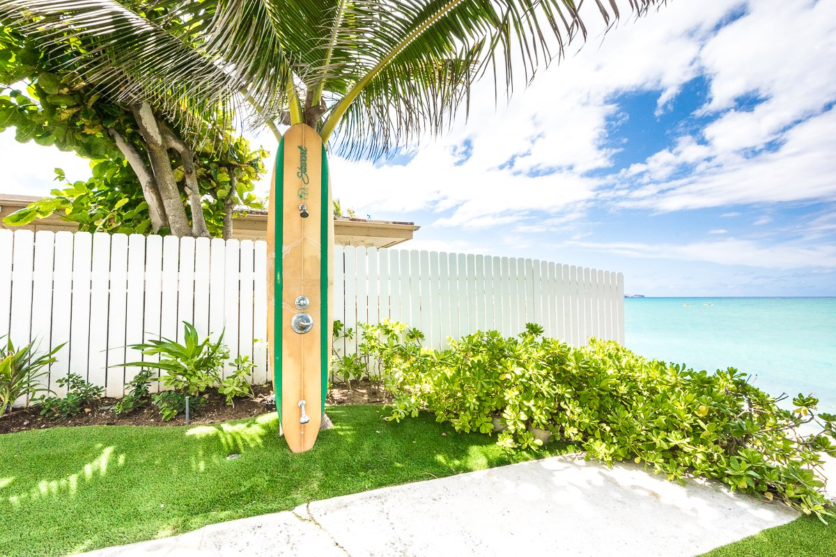 Exotic Estate Oahu Vacation Rentals Surfboard Shower