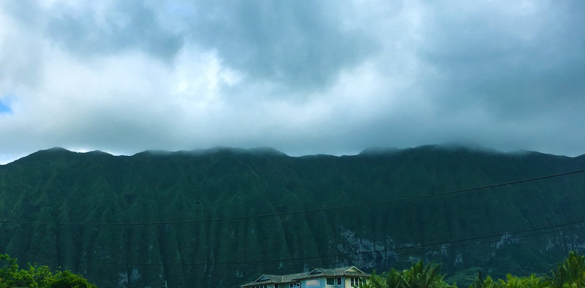 View of Koolau Mountains on Windward Side of Oahu