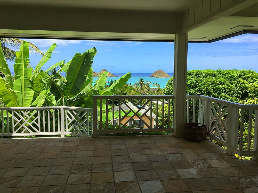 Exotic Estates View of Mokulua Islands of Kailua Oahu