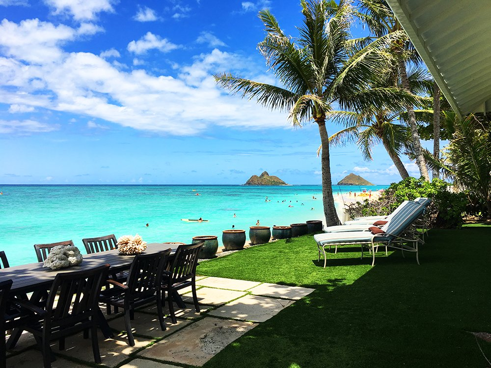 Exotic Estates Oahu Villa - Lanikai Historic Walker Oceanfront View