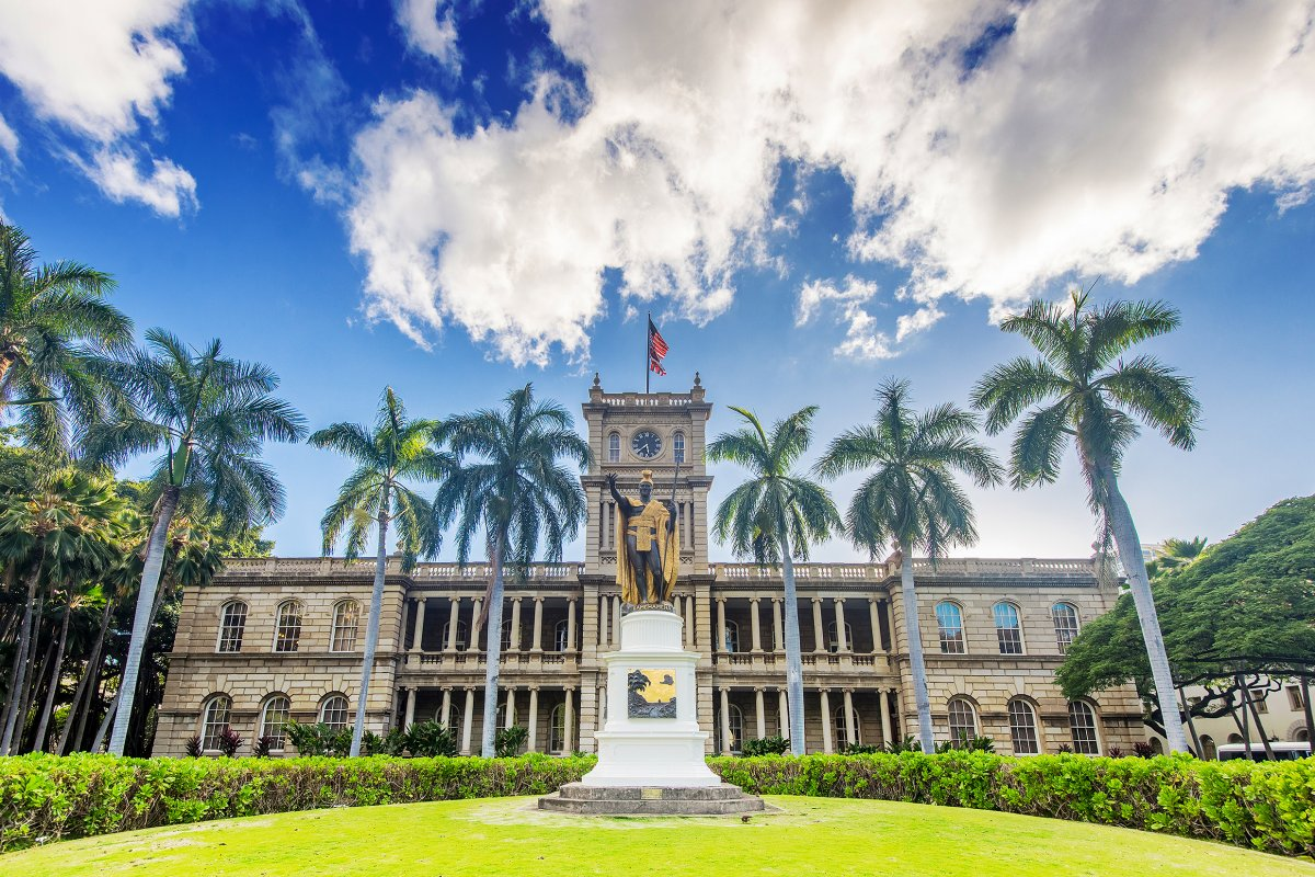 Ioalani Palace downtown Honolulu