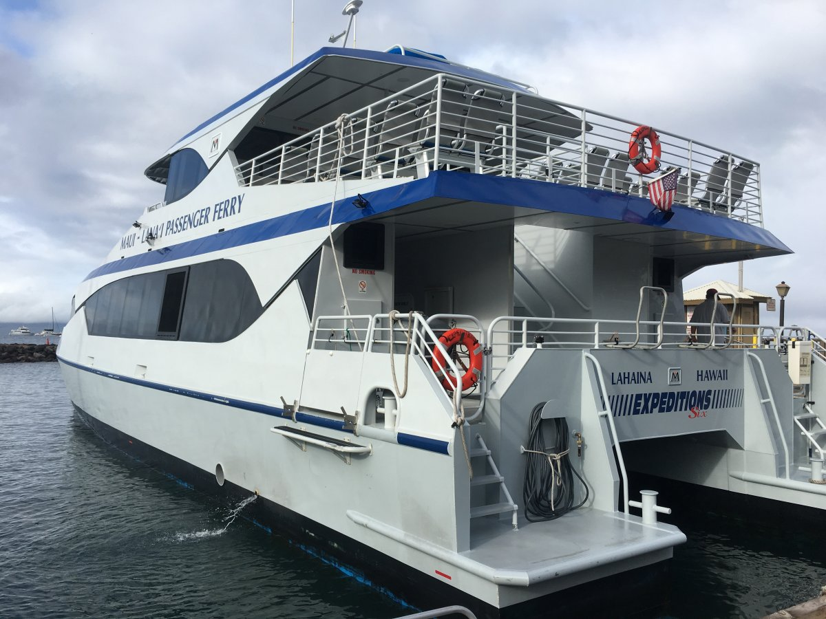 John Di Rienzo - Lanai Cat Santuary - Ferry from Lahaina