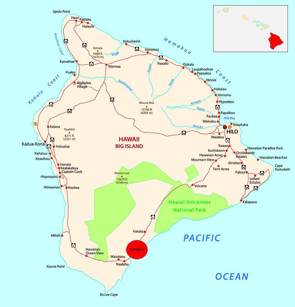 Exotic Estates - Map Big Island