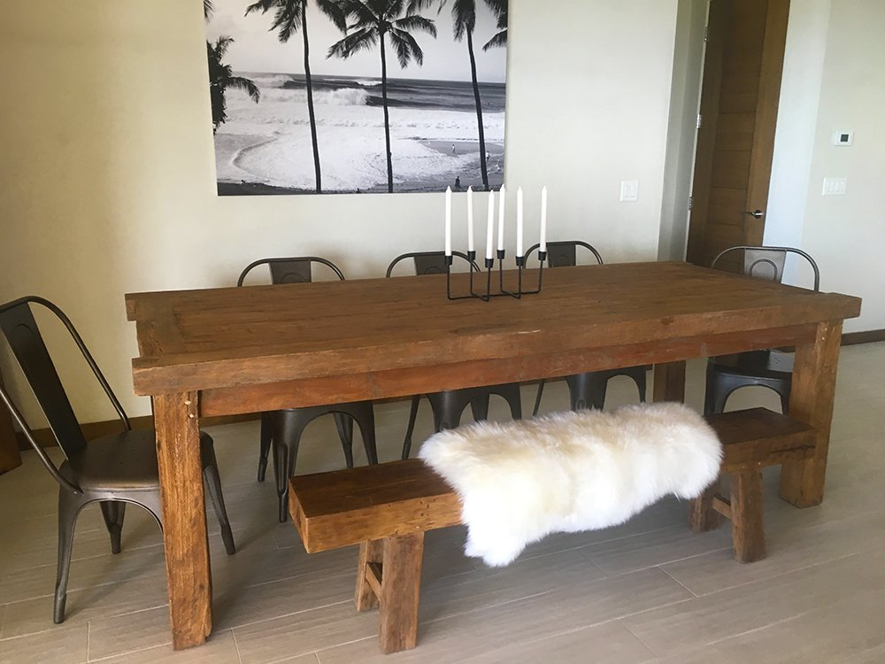 Maui Vacation Rentals - Maui Surf Villa Dining Table