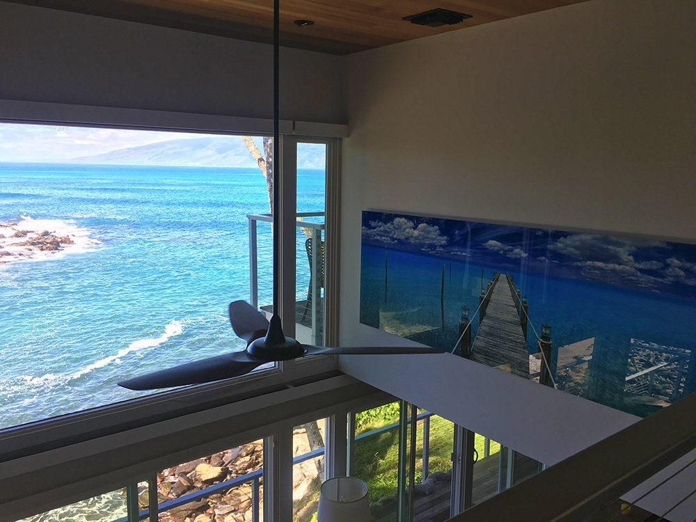 Maui Vacation Rentals - Napili Cove Villa Living Room Reflections