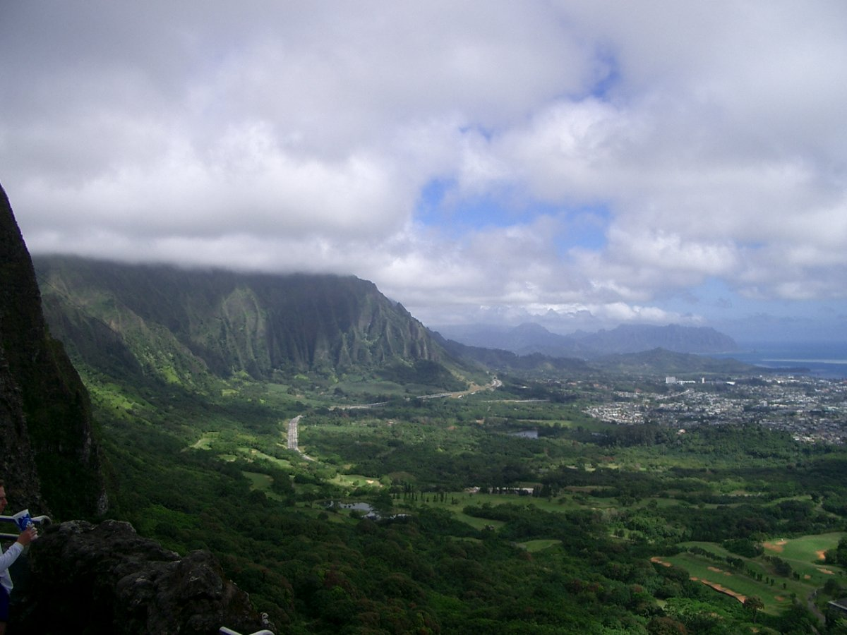 Pali Lookout Oahu - by John Di Rienzo