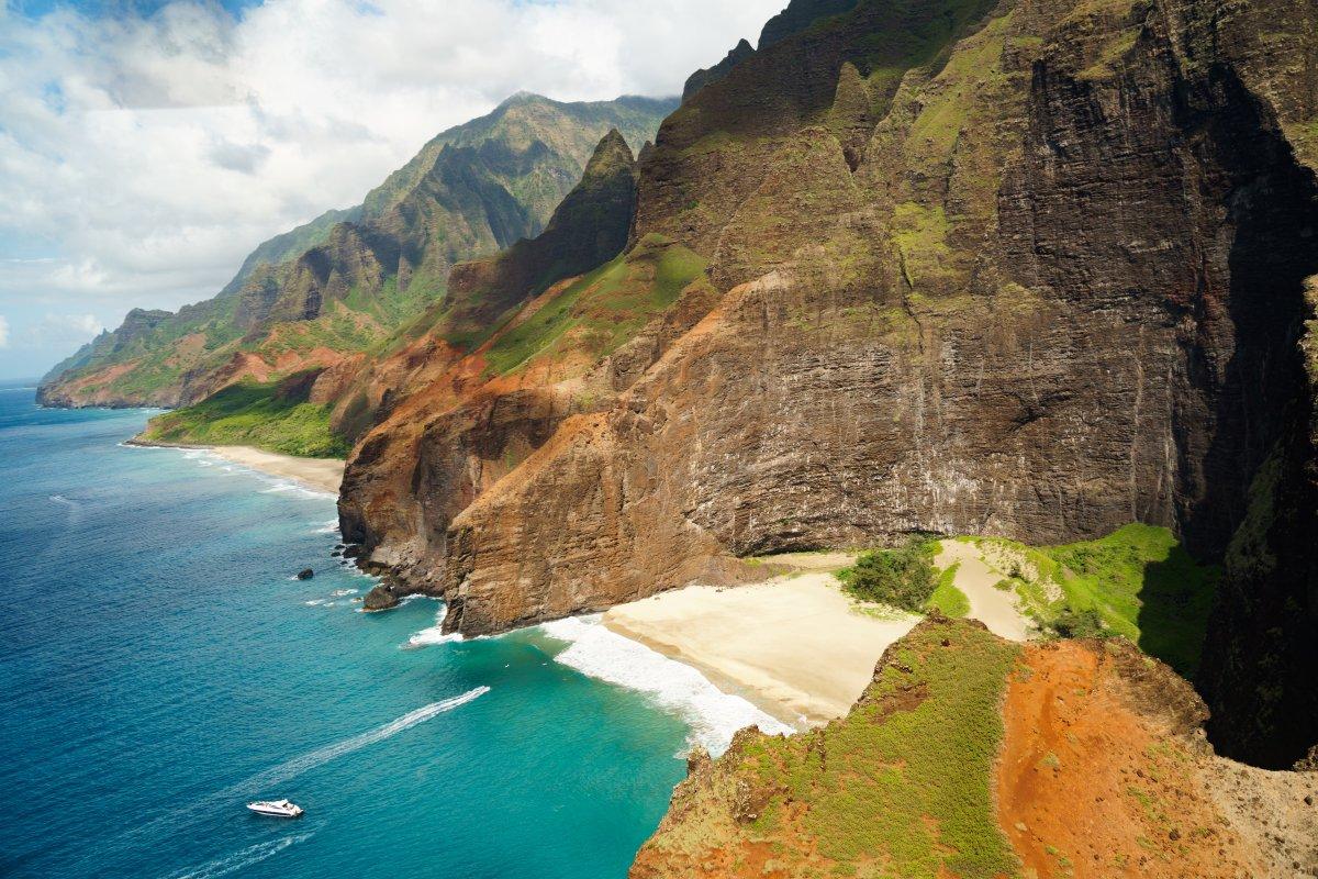 Na Pali Coast on North Shore of Kauai