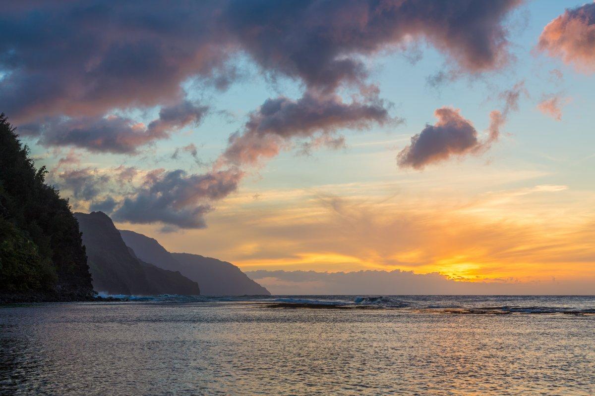 Na Pali Coast near Ke'e Beach, Kauai