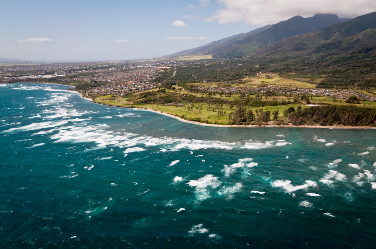 Aerial View of Central Maui and Kahului