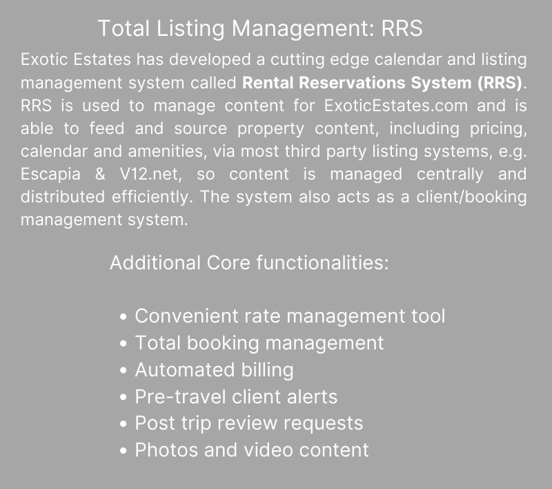 Hawaii Vacation Rental Management - Exotic Estates