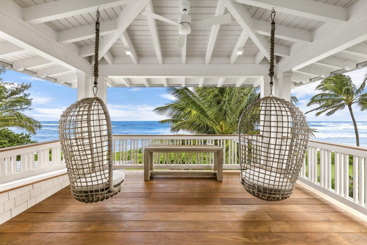 Oahu North Shore Luxury Home Lanai View