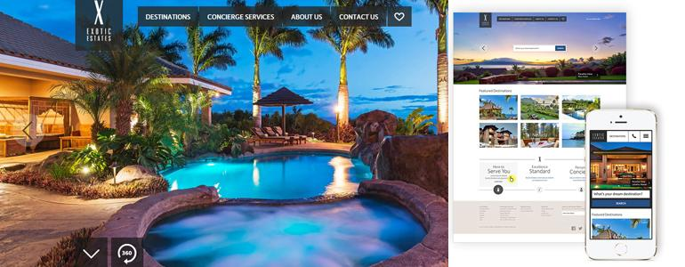 Exotic Estates Vacation Rentals - New Fully Responsive Website