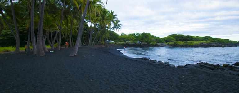 Hawaii's Punalu'u Black Sand Beach